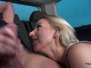 Takevan - Petite blonde with big natural tits fuck stranger