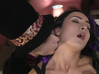 Arbitrate up glaze of insouciant fucking on the bed with Anna Rose