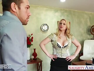 Strict sissified boss Sarah Vandella is fucked by handsome employee Johnny Mansion