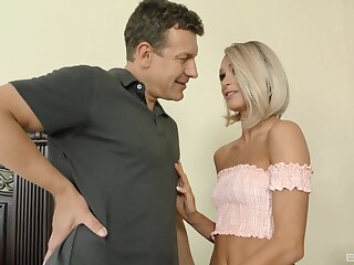 Gagged and creamed nigh scenes of merciless sex